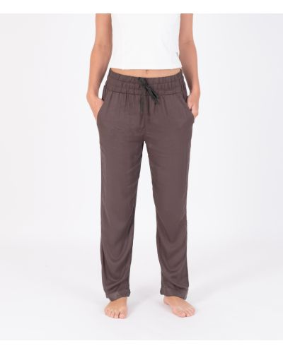 TAPERED ROLLED CUFF EASY PANT - WOMEN|VINTAGE BLACK|XS