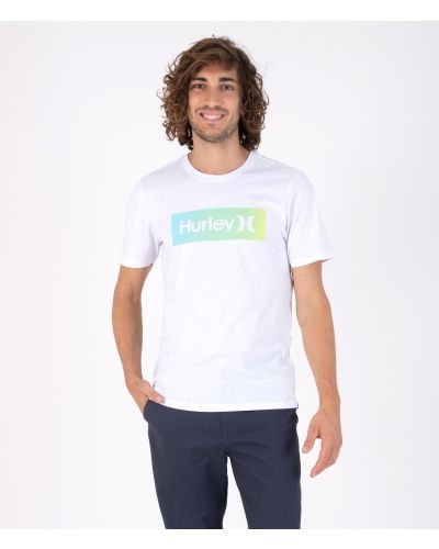 EVERYDAY WASHED ONE & ONLY BOXED GRADIENT S/S - MEN|WHT COMBO|S