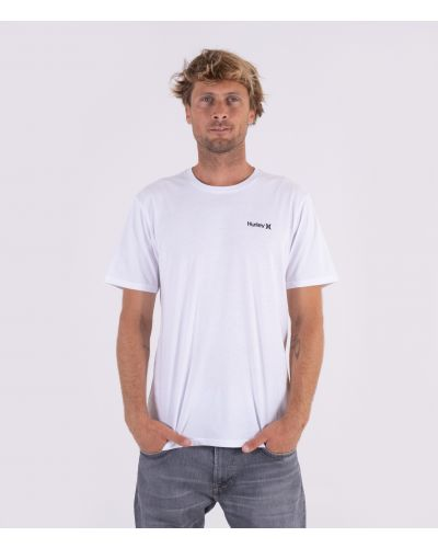 EVERYDAY WASHED SMALL ONE & ONLY SOLID TEE - MEN|WHITE|XL