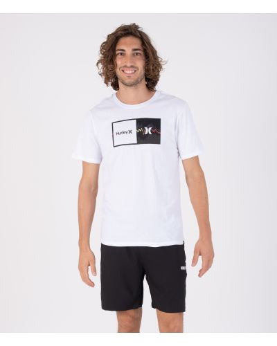 EVERYDAY WASHED DOUBLE UP GLITCH S/S - MEN|WHITE|S