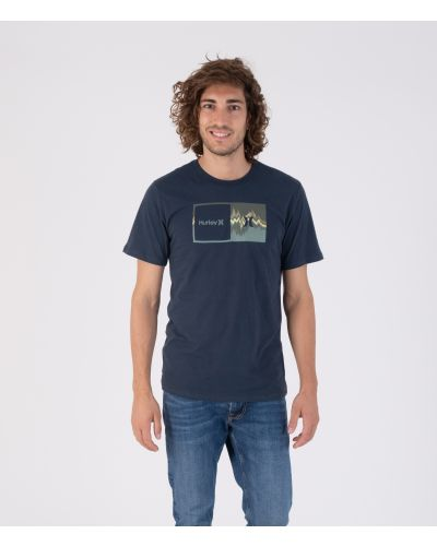 EVERYDAY WASHED DOUBLE UP GLITCH S/S - MEN|ARMORY NAVY|S