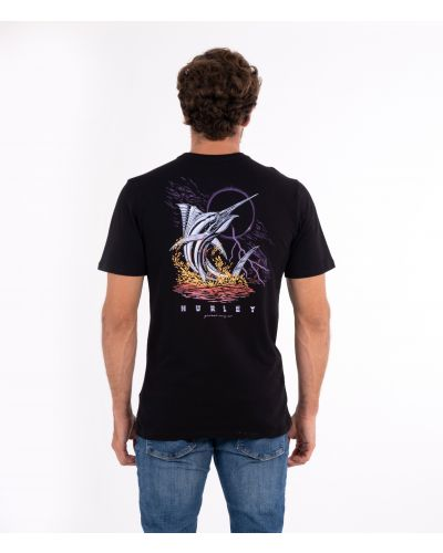 EVERYDAY WASHED CHROME FISH S/S - MEN|BLACK|L