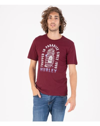 EVERYDAY WASHED TRAPPED IN S/S - MEN|DARK BEETROOT|XXL