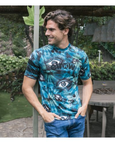 ELROW ALLOVER PRINTED TEE SS|AURORA GREEN|S