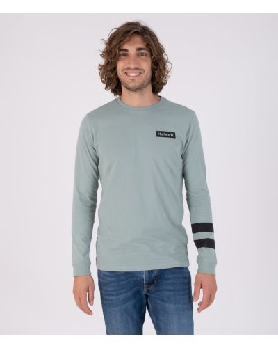 OCEANCARE WASHED BLOCK PARTY L/S TEE - MEN|MEDIUM OLIVE|XXL
