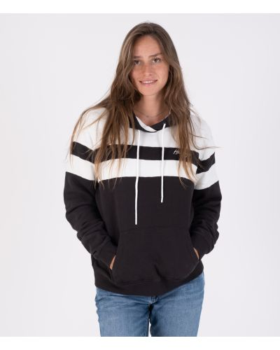 OCEANCARE WASHED COLLEGE PULLOVER - WOMEN|BLACK|L