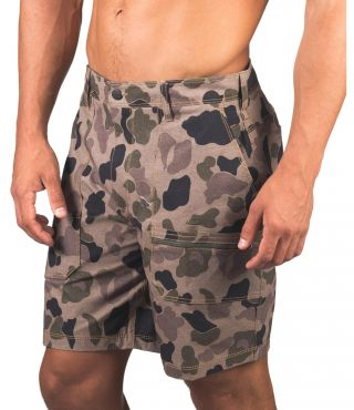 CARHARTT CAMO WORK SHORT 19' - MEN|CARGO KHAKI|32