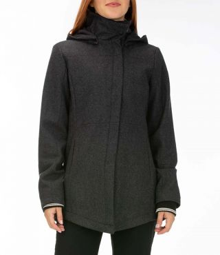 WINCHESTER WOOL JACKET - WOMEN|BLACK HEATHER|L