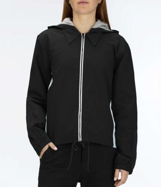 W O&O HOODED JACKET|BLACK|XS