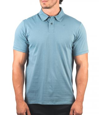 DRI-FIT HARVEY SOLID POLO S/S - MEN |OZONE BLUE|M