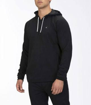 M DF UNIVERSAL FLEECE PO|BLACK|L