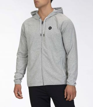 M DF UNIVERSAL FLEECE FZ|DARK GREY HTR|L