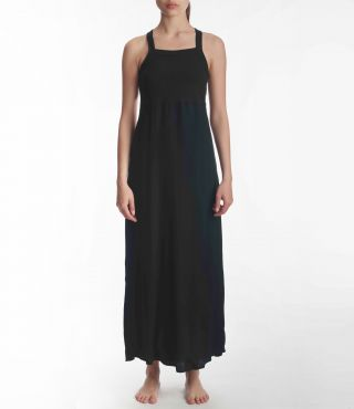 W MIXUP MAXI DRESS|BLACK|S