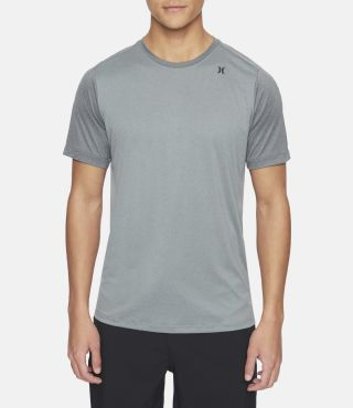 M QUICK DRY NU BASICS S/S|COOL GREY HTR|L