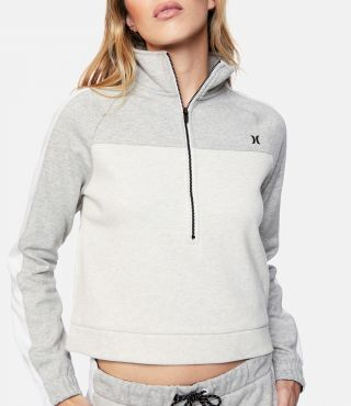 THERMA FLEECE HALF ZIP - WOMEN|LE GREY HEATHER|XS
