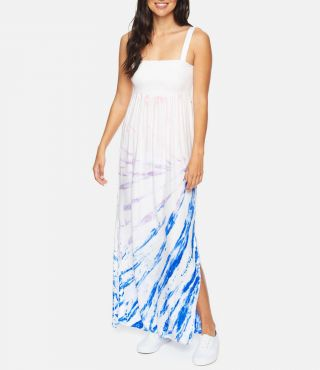 W LEI MAXI DRESS|RACER BLUE|S