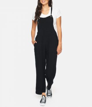 W MELLOW JUMPSUIT|BLACK|XS