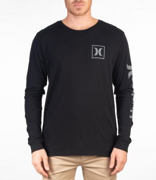 ONE & ONLY ICON L/S - MEN|BLACK|S