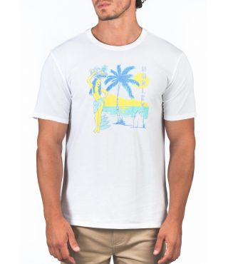 DRI-FIT HULA HIDEOUT S/S - MEN|WHITE|XL