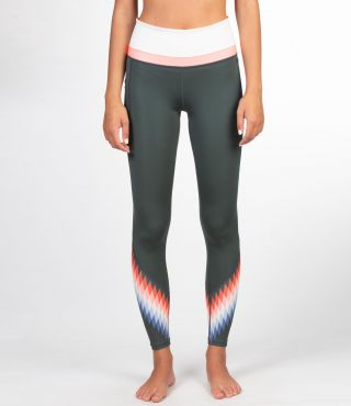 PLAYA HYBRID LITE LEGGING - WOMEN|VINTAGE GREEN|XS