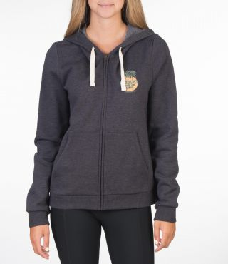 TRES PALMS FLEECE ZIP - WOMEN|OIL GREY HTR|XS