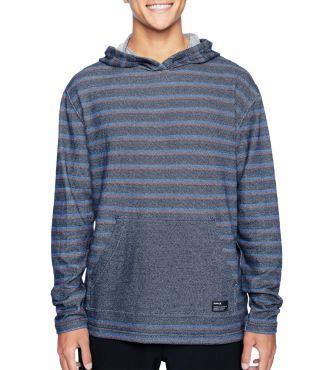 MODERN SURF PONCHO STRIPE - MEN|OBSIDIAN|XL