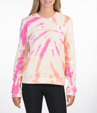 ALLOVER TIE DYE CREW - WOMEN|MULTI COLOR|S