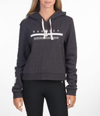 NICO CROP FLEECE PULLOVER - WOMEN|OIL GREY HTR|XS