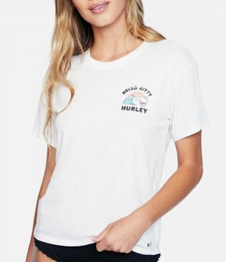 HELLO KITTY SURF'S UP GF TEE - WOMEN|SAIL|M