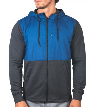 DRI-FIT DISPERSE SIEGE FULL ZIP - MEN|COASTAL BLUE|M