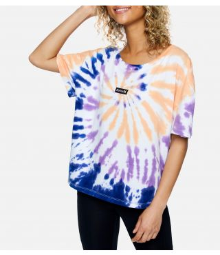 ONE & ONLY TIE DYE FLOUNCY TEE - WOMEN|WHITE|M