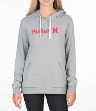 ONE & ONLY FLEECE PULLOVER - WOMEN|DARK GREY HTR|S
