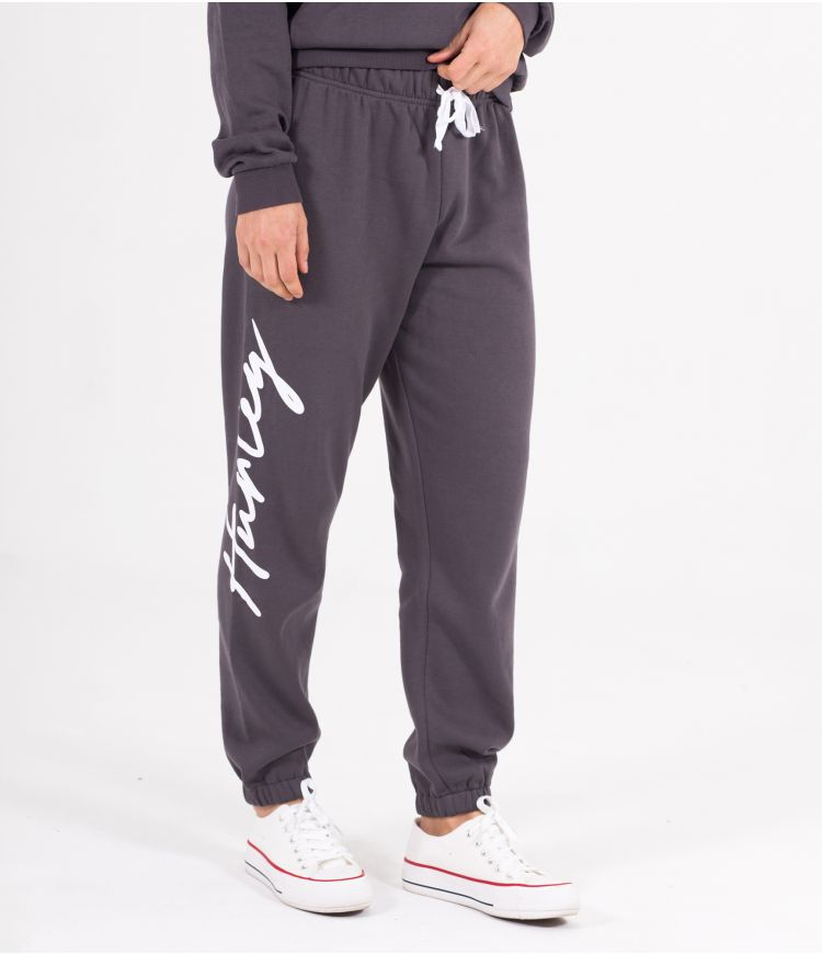 BILLIE SCRIPT FLEECE JOGGER - WOMEN|GREY|L