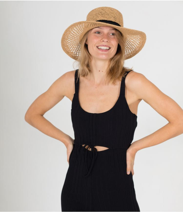 DAY TRIPPER CROP JUMPSUIT - WOMEN|BLACK|L