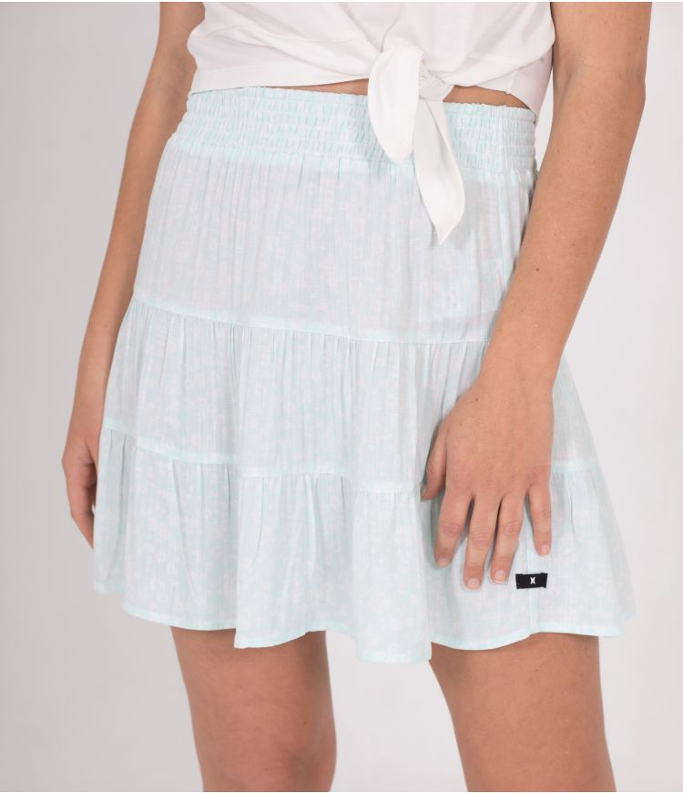 TIERED MINI SKIRT - WOMEN|LIGHT DEW|L