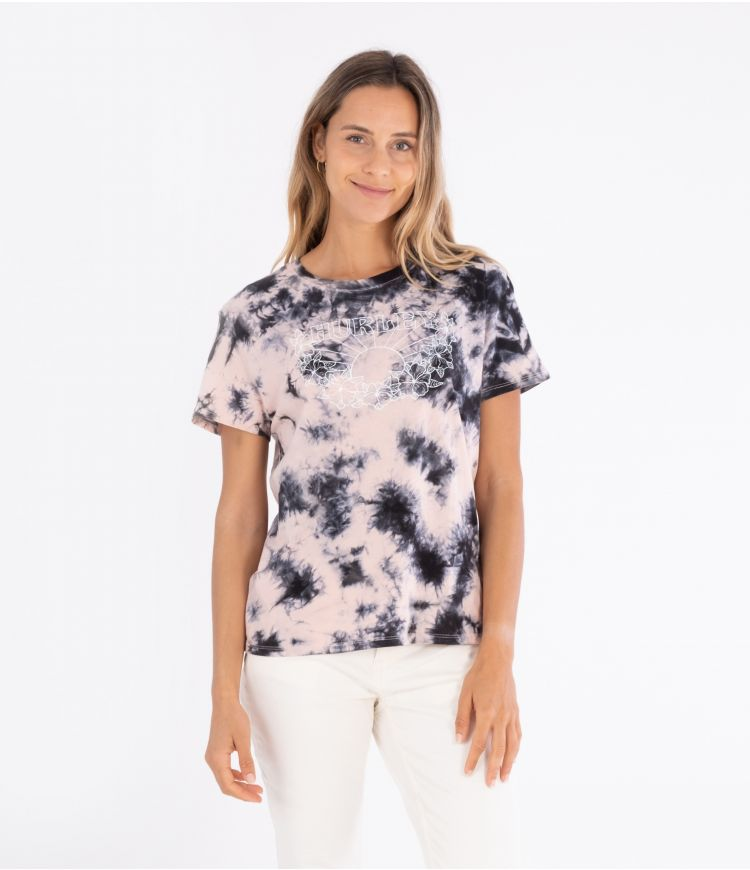 RELAXED-FIT ONE&ONLY 2.C T-S - WOMEN|BLACK CORAL TIE DYE|XS