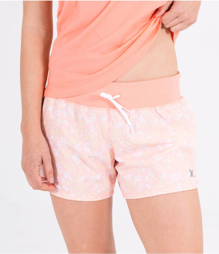 KNIT WAISTBAND SHORT - WOMEN|WASHED CORAL|XS