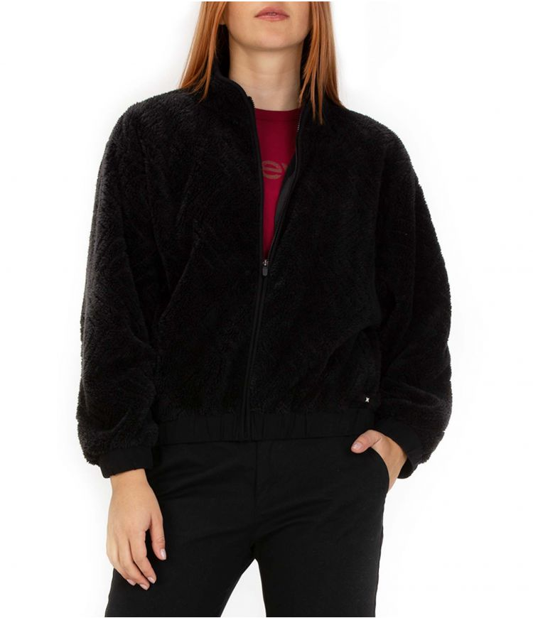 SHERPA JACKET ZIP - WOMEN|BLACK|L