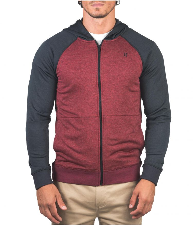 DRI-FIT DISPERSE FULL ZIP - MEN|GYM RED|XL