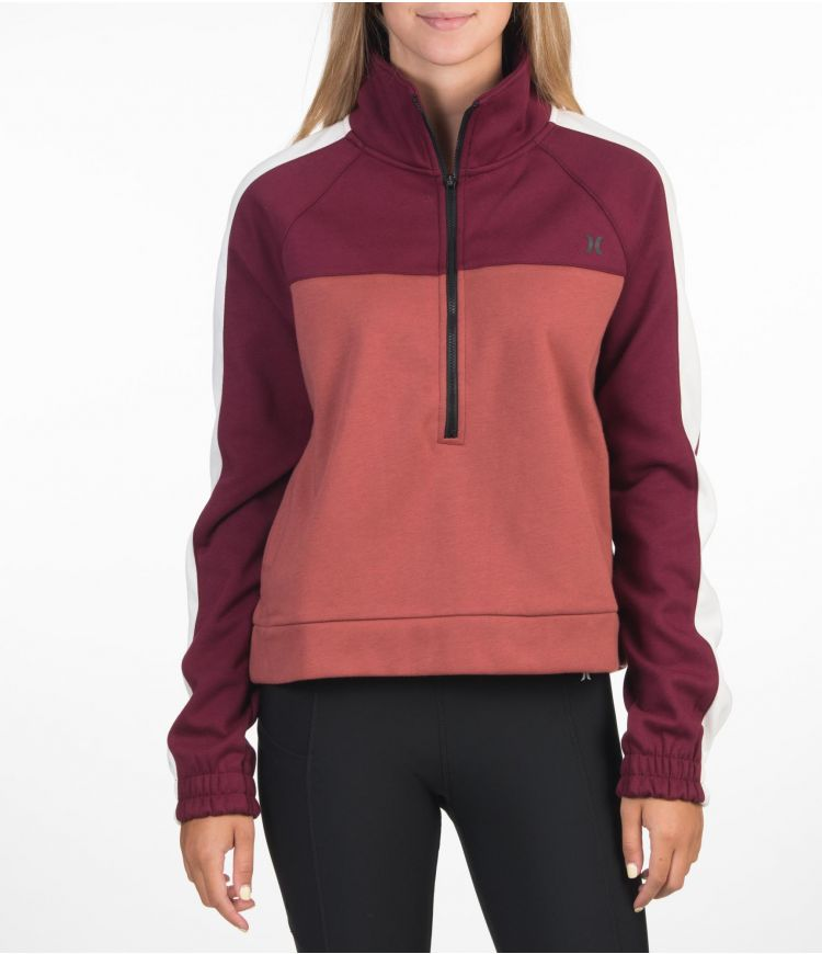 THERMA FLEECE HALF ZIP - WOMEN|DARK BEETROOT|XS