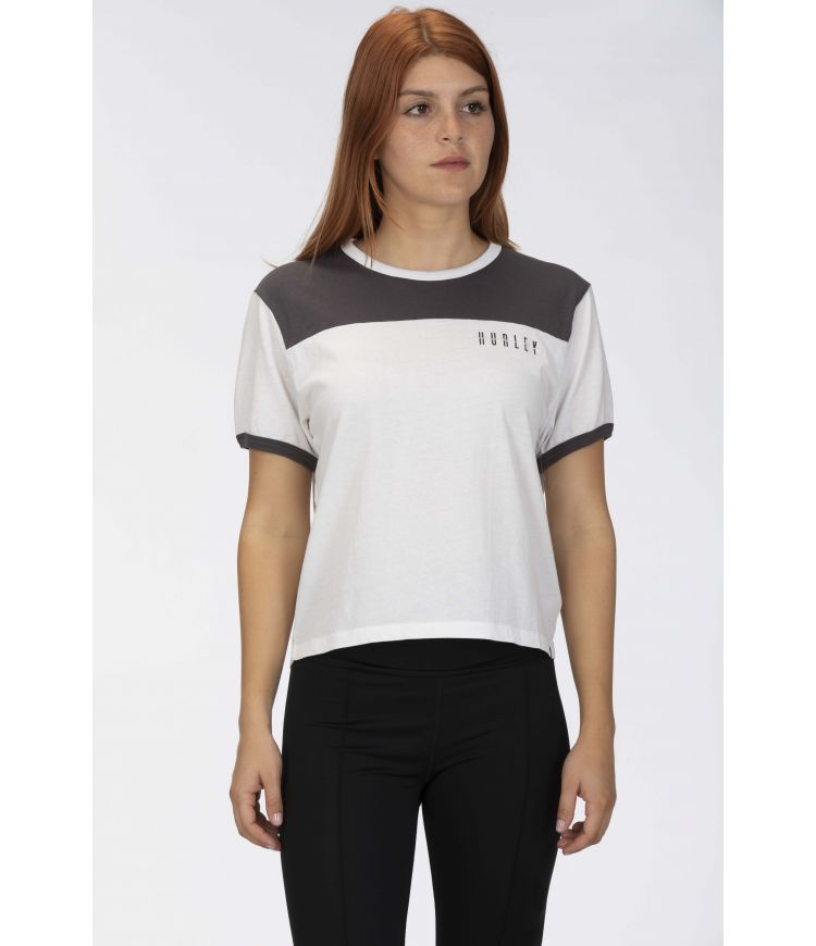 AVANTE BLOCKED TEE - WOMEN|THUNDER GREY|S