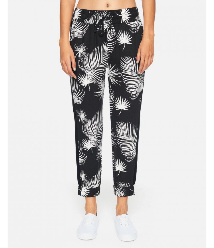 PRINTED BEACH JOGGER - WOMEN|BLACK PALM|XS