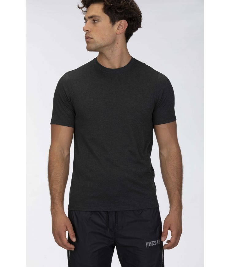 QUICK DRY PERFORMANCE MESH S/S - MEN |DARK GREY HTR|XXL