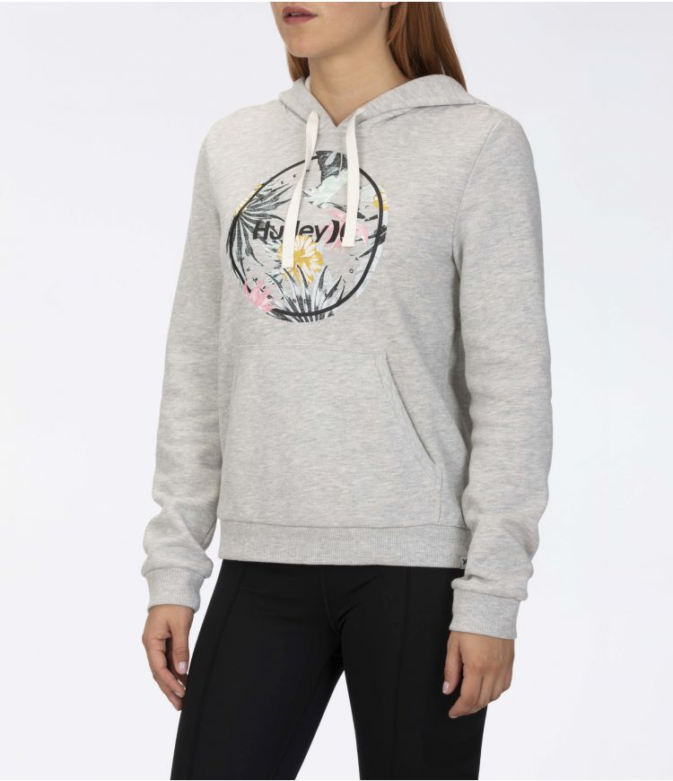 CRUSH FLEECE PULLOVER - WOMEN|GREY HTR|S