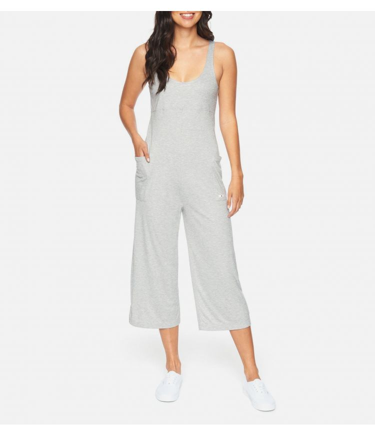 RIB JUMPSUIT - WOMEN|GREY HTR|M