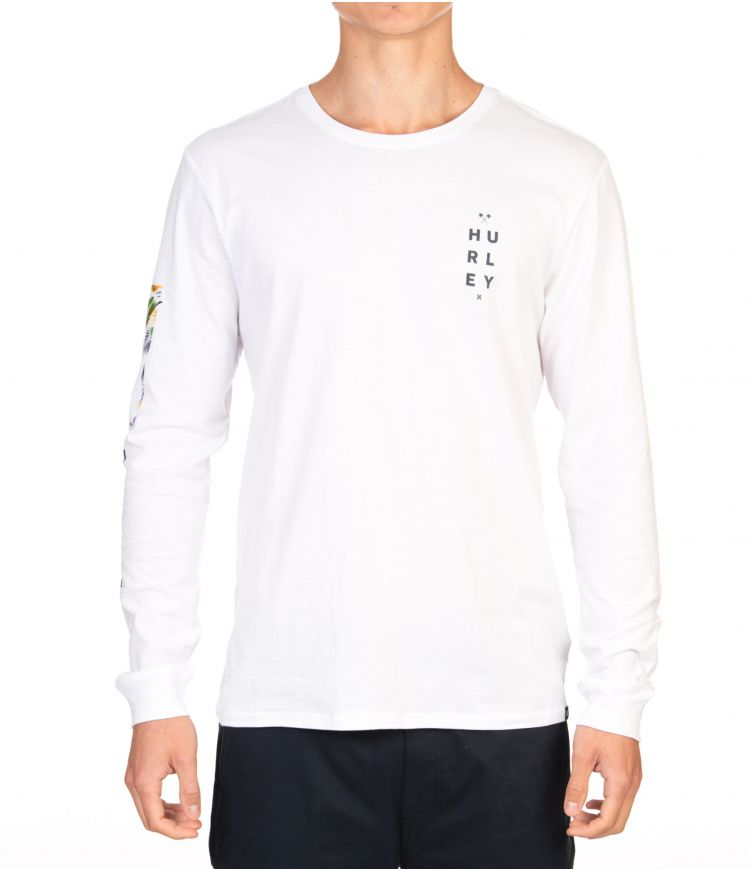 FLORAL BOX L/S - MEN|WHITE|XXL