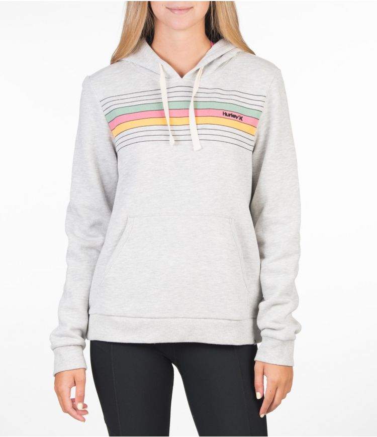NALA FLEECE PULLOVER - WOMEN|GREY HTR|XS