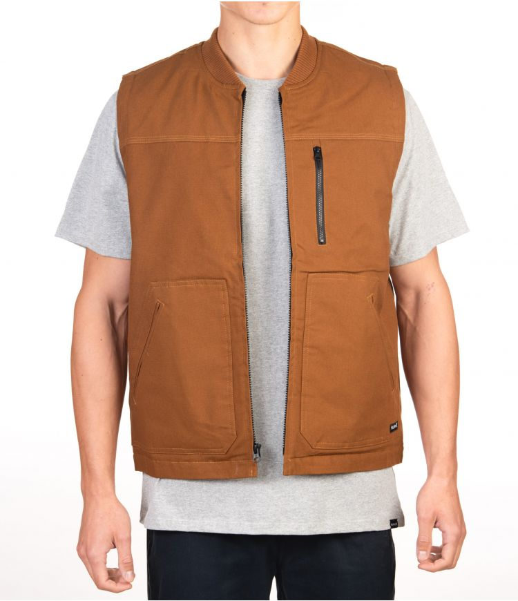 WORK TRUCKER VEST - MEN|LT BRITISH TAN|XXL