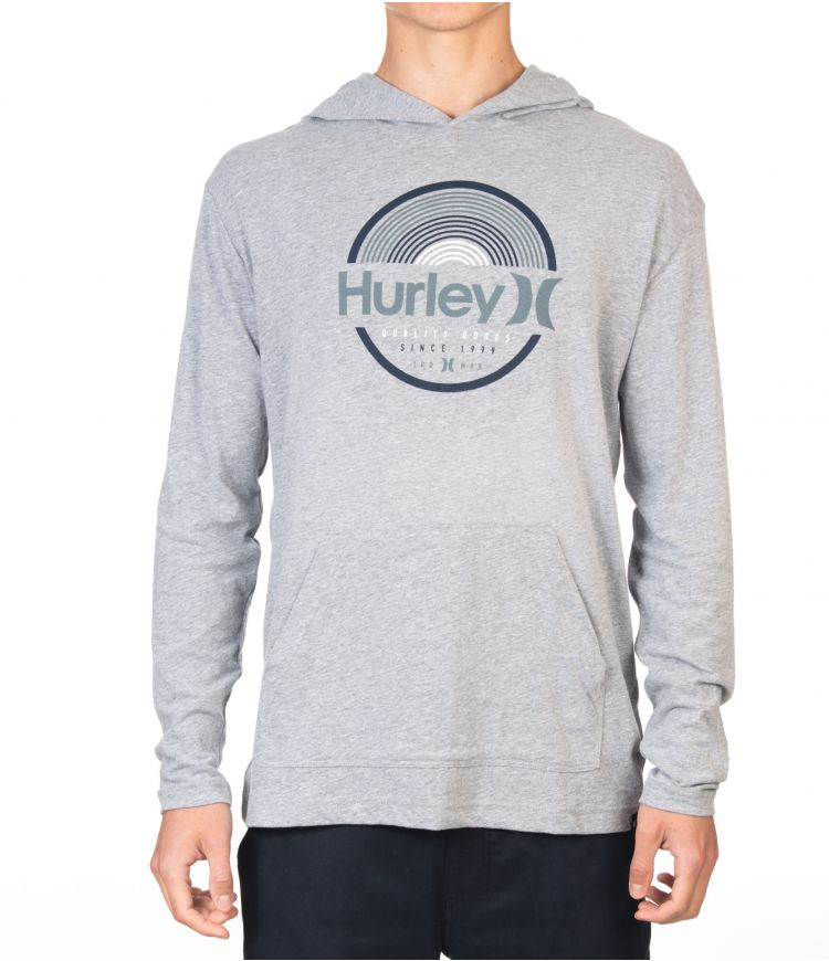 MODERN SURF PONCHO ARCHES L/S - MEN|DARK GREY HTR|XL
