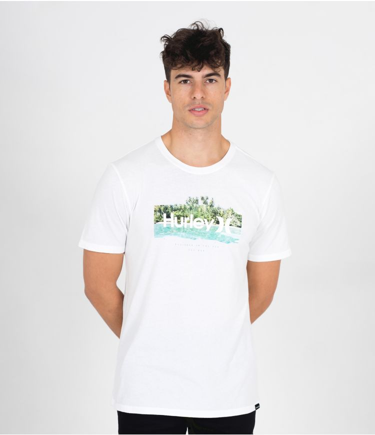 EVERYDAY WASHED ISLAND TIME  S/S - MEN |WHITE|XXL
